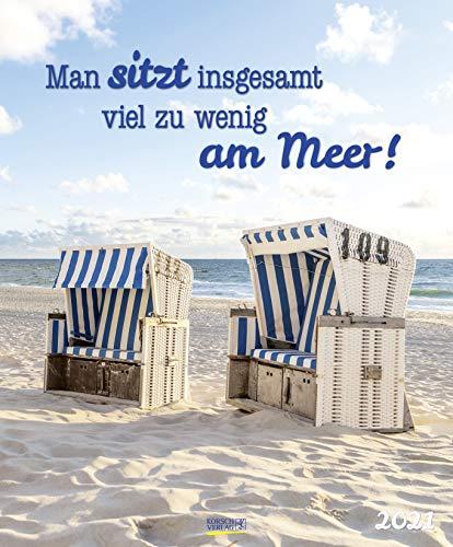 Am Meer 2021: Großer Typo-Art Foto-Wandkalender zum Thema Am Meer. Wandkalender im Poster Format. Hochformat 45,5 x 55 cm.