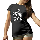 Training to be an Agent of Shield Noir T-Shirt pour Les Femmes Small