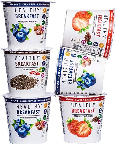 Gesundes Frühstück von MESAVERDE Haferflocken, 7 + 1 Obstmischung, ein gesundes Frühstück für einen erfolgreichen Start in den Tag, glutenfrei und laktosefrei geeignet für Veganer.