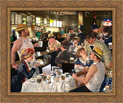 Kite, Barry 24x20 Gold Ornate Framed Canvas Art Print Titled: Luncheon of The Cappuccino Party