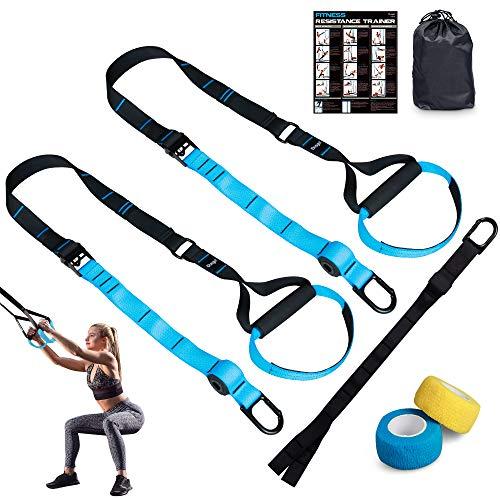 Dusgut Schlingentrainer Sling Trainer Set Fitness Zuhause Suspension, Ganzkörpertraining für Zuhause und Reisen, geeignet für unterwegs und für das Training im Innen- und Außenbereich