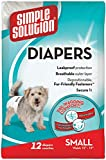 Simple Solution Disposable,Small Dog Diaper, 12 coun