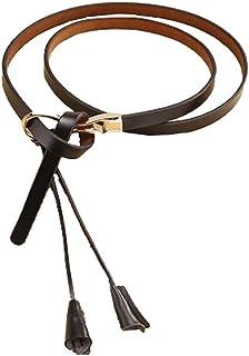 Ladies Fashion Simple Dress Decorative Wild Thin Belt,Black