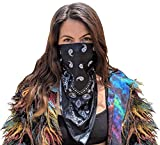 Velu Rave Face Masks (2 in 1) Reversible Bandanas for Dust, Outdoors, Raves, Festivals with microFLEX Filtering Technology (Starfox)