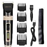 GREFIC Cortapelos Electrónico Maquinilla Cortar Pelo Ajustable indicador LED con 4 Peines Adecuado para Barba, Mudo,...
