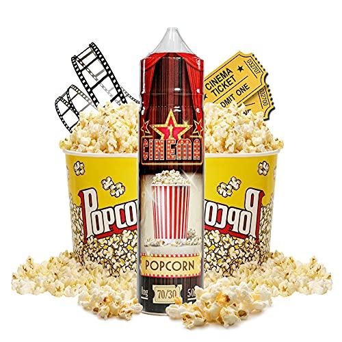 Cinema Range - Popcorn - Eco Vape E-Liquid   50ML   Sin Nicotina: 0MG   70VG/30PG   E-Liquido para Cigarrillos Electronicos   Vaper   E Cigarette   E Shisha