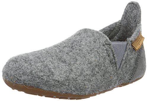 Bisgaard Unisex-Kinder Wool Sailor Slipper, Grau (70 Grey), 28 EU
