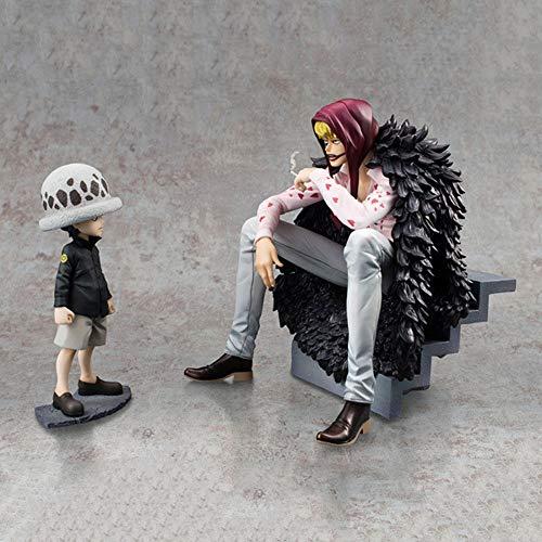 Lupovin 2pcs / Set Anime Action-Figur ONE Piece Corazon Trafalgar Law PVC 12~16cm Modell Nette Sammlung Kinder Geschenk Dekoration Spielzeug-Puppe
