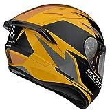 MT Helmets Targo Pro Sound D3 Naranja - Casco de Moto Integral (L)