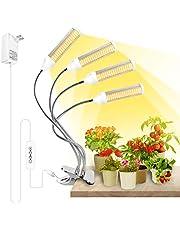 SINJIAlight LED-växtlampa, 288 LED växtljus, full spektrum för växtlampa, växa lampa med timer klocka, 3 typer av läge, 6 typer av ljusstyrka