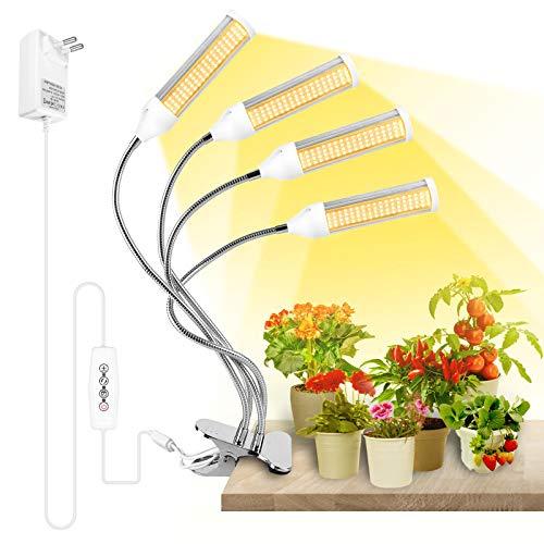 SINJIAlight LED Pflanzenlampe, 288LEDs Pflanzenlicht, Vollspektrum für Pflanzenleuchte, Grow Lampe mit Zeitschaltuhr, 3 Arten von Modus, 6 Arten von Helligkeit