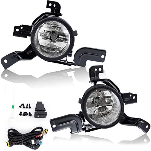 RP Remarkable Power, Compatible With 07-09 CRV Fog Lights Clear Lens Bumper Lamps Kit Accessories