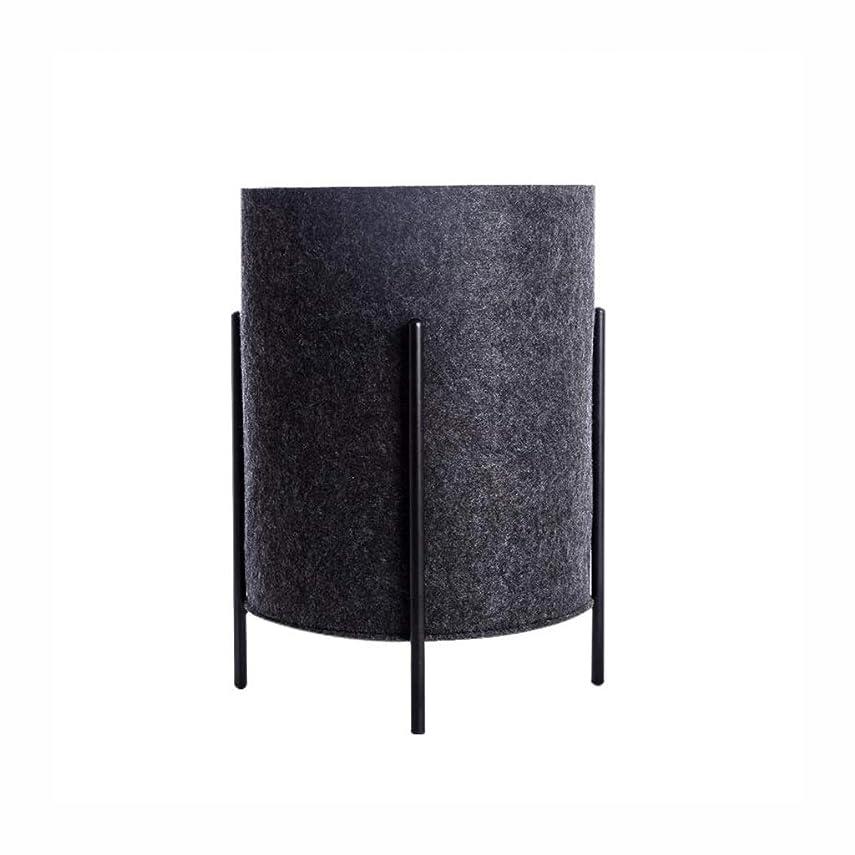 酸化物伝統的検出グランドデザイン耐摩耗性変形から家庭用大容量フェルト収納バスケット汚れた服収納ビン GBYGDQ (Color : Dark gray)