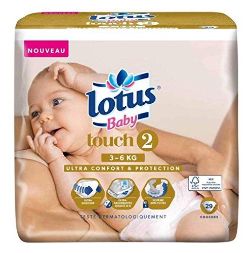 Lotus Couches Baby Touch 2 (3-6Kg) X29 (lot de 2)