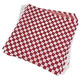 Jcevium Lot de 100 feuilles de papier d'emballage alimentaire à carreaux - Anti-graisse - Emballage sandwich - Rouge et blanc