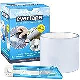 Everfix EVERTAPE Cinta Adhesiva Reparadora - Cinta Resistente al Agua - Cinta para Reparar y Sellar - Cinta Impermeable Usable Bajo el Agua y Superficies Húmedas - Cinta Transparente (7,5 cm x 100 cm)