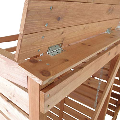 Mülltonnenverkleidung Holz Mülltonnenbox für 2 Mülltonnen 240l Müllcontainer - 4