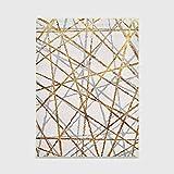 Ksainiy Nordic creativo imitación del modelo del azulejo de la alfombra Moda Cruz Oro Gris Heavy Metal Línea dormitorio puerta de la sala del piso alfombra de la estera de gama alta de la alfombra las