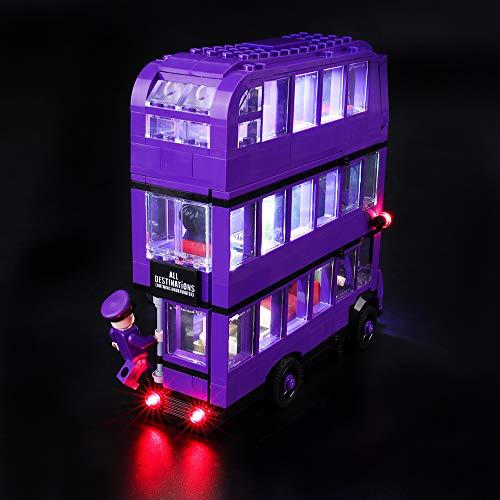 BRIKSMAX Kit de Iluminación Led para Lego Harry Potter Autobús Noctámbulo,Compatible con Ladrillos de Construcción Lego Modelo 75957, Juego de Legos no Incluido