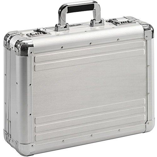 Aktenkoffer Attachékoffer Koffer Aluminium Mit Zahlenschloss Groß Diplomtenkoffer XL Alu Silber