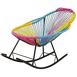 Chaise Longue Pliant de Jardin, Chaise à bascule en rotin pour enfants pour enfants adultes pépinière chaises longues…