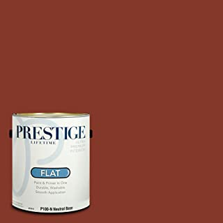 Prestige Paints P100-N-SW6335 Interior Paint and Primer in One, 1-Gallon, Flat, Comparable Match of Sherwin Williams Fired Brick, 1 Gallon, SW49-Fired