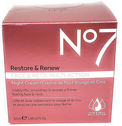 No7 Restore & Renew Multi Action Night Cream - 1.69oz Night Cream