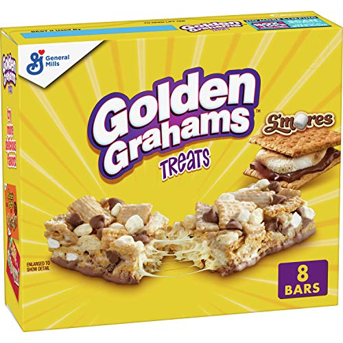 Cereal Treat Bars Golden Grahams S'mores Chocolate Marshmallow, 8.48oz Box (Pack of 6)