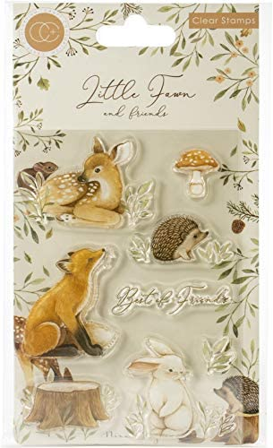 CRAFT CONSORTIUM LTD Fawns Stamps FRNDS us one size Little Fawn Friends Best Friends product image