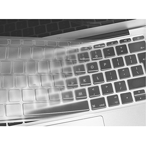 Se7enline MacBook Pro 13 inch A1708 (2016 2017 2018 No TouchBar Version) Unique Ultra Thin Durable Keyboard Cover Silicone Skin Macbook Pro Keyboard Protector (UK Layout), Transparent-Clear