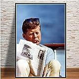 QAQTAT John F. Kennedy Poster Leinwanddruck HD-Druck