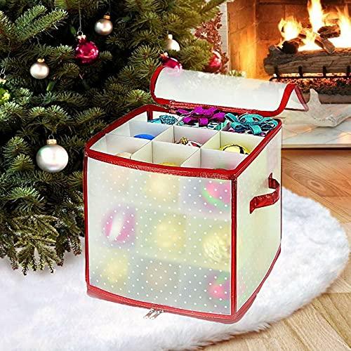 YJYDD Christmas Storage Bag Xmas Gift Wrap Organiser Bag Tree Cover Sack (Size : 27 Baubles Storage Box)