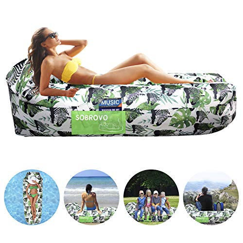 Inflatable Lounger Air Sofa Portable Waterproof Inflatable Pouch Couch...