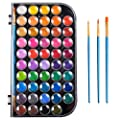 Upgraded 48 Colors Watercolor Paint, Washable Watercolor Paint Set with 3 Paint Brushes and Palette, Non-toxic Water Color Paints Sets for Kids, Adults, Beginners and Artists, Make Your Painting Talk