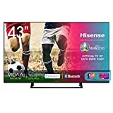 hisense 43ae7210f, smart tv led ultra hd 4k 43, single stand, hdr 10+, dolby dts, alexa integrata, tuner dvb-t2/s2 hevc main10 [esclusiva amazon - 2020]