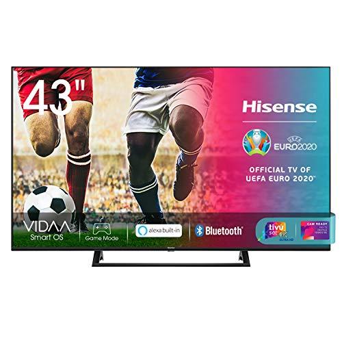 Hisense 43AE7210F, Smart TV LED Ultra HD 4K 43 , Single Stand, HDR 10+, Dolby DTS, con Alexa integrata, Tuner DVB-T2 S2 HEVC Main10 [Esclusiva Amazon - 2020]