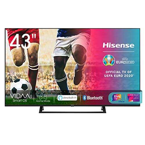 Hisense 43AE7210F, Smart TV LED Ultra HD 4K 43', Single Stand, HDR 10+, Dolby DTS, Alexa integrata, Tuner DVB-T2/S2 HEVC Main10 [Esclusiva Amazon - 2020]