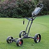 Y&XF Carro De Golf Plegable De 4 Ruedas con Empuje Y Extracción, Carro De Golf...