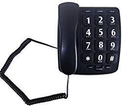 $39 » JeKaVis J-P02 Large Button Phone Corded Phone for Elderly with Amplified Speakerphone/Speed Dial/Wall Mountable