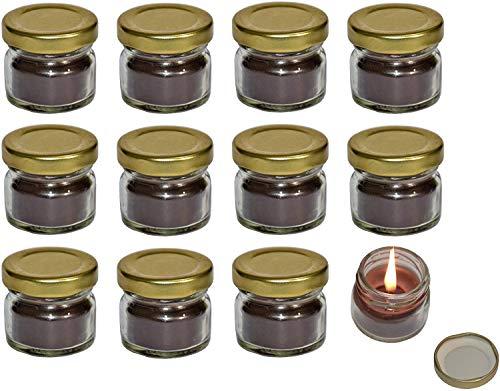 Terapia dell'aroma Mini-Duftkerze im Glas, Vanille, 12 Stück