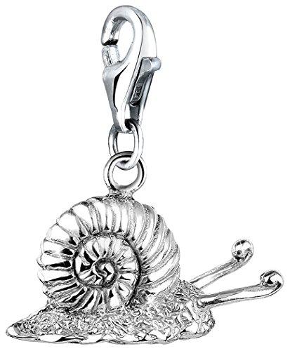 Nenalina Charm Schnecke Anhänger in 925 Sterling Silber für alle gängigen Charmträger 713168-000