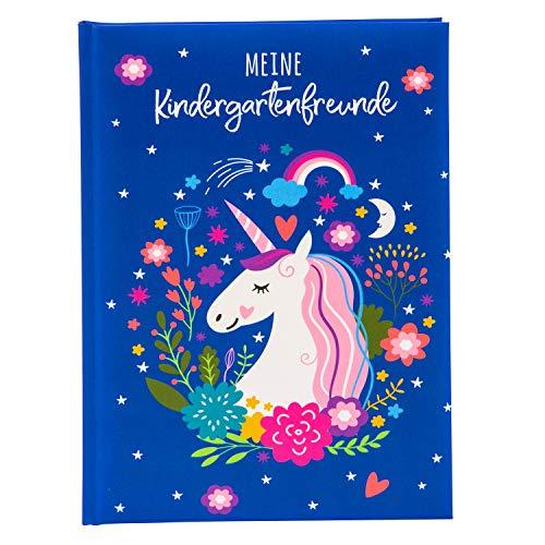 Goldbuch 43268 Kita - Cuaderno de Amistad con diseño de Unicornio (DIN A5, Libro de Amistad para Rellenar, 88 páginas ilustradas, Cubierta con impresión artística, Aprox. 15 x 21 x 1,5 cm)