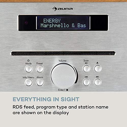 auna Silver Star CD-FM CD-Player mit UKW-Radio - Slot-In CD-Player, CD-Radio, Bluetooth, 2 x 20 W max. Ausgangsleistung, USB, AUX-IN, Kopfhörerausgang, Aluminium, inkl. Fernbedienung, weiß