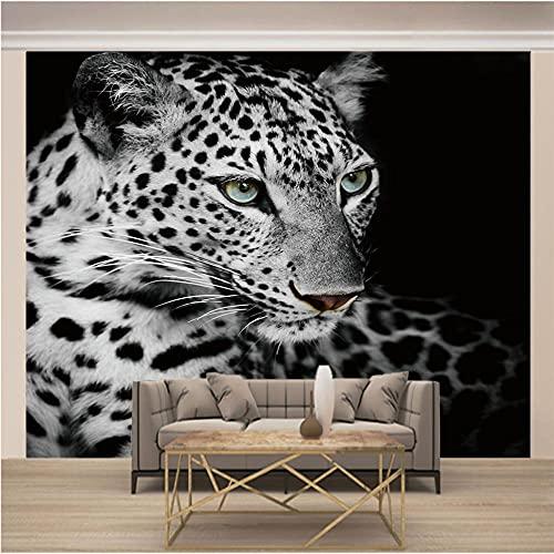 Papel Pintado Pared Gris Leopardo Marca MEKVF