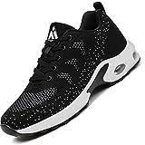 Mishansha Air Zapatos de Deportes Mujer Ligeros Zapatillas de Correr Femenino Respirable Calzado Fitness Jogging Sneakers Negro, Gr.39 EU