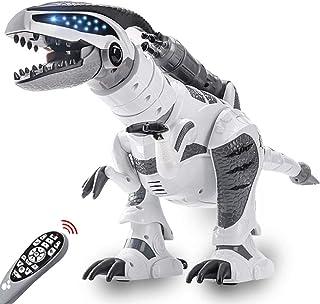 RC Dinosaur Robot Toy, Giant Dinosaur, Smart Programmable Interactive Walk Sing Dance for Kids Gift Present