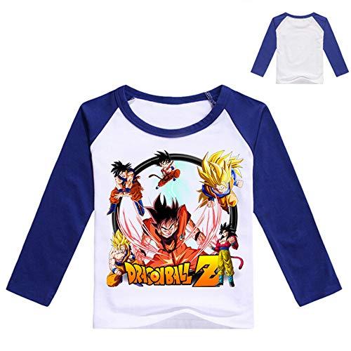 Dragon Ball Einfarbig Karikatur Kind Frühling Rundhals Casual Lange Ärmel T-Shirt