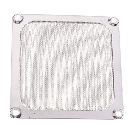 B Blesiya Filtro de Ventilador de Malla de Acero Inoxidable de 92 Mm a Prueba de Polvo para El Ventilador de La Caja de La Computadora de La PC 9CM