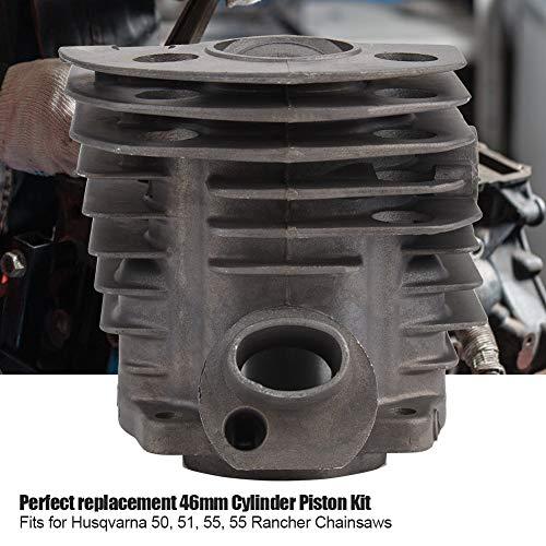 Pistón de cilindro para Husqvarna, kit de junta de pistón de cilindro de 46 mm, kit de junta de pistón de cilindro, trabajo exquisito para 50 reemplazos