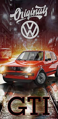 Volkswagen VW Badetuch Golf GTI Rot 75 cm x 150 cm 100{eceef5266204039c5eb541876cf7d7970db81b45fe57f0f702ba0863ebc1e84d} Baumwolle Veloursqualität Oldtimer Race Wörthsee Auto Car Tuning Strandlaken Strandtuch Handtuch Badelaken Duschtuch Saunatuch Badelaken 088